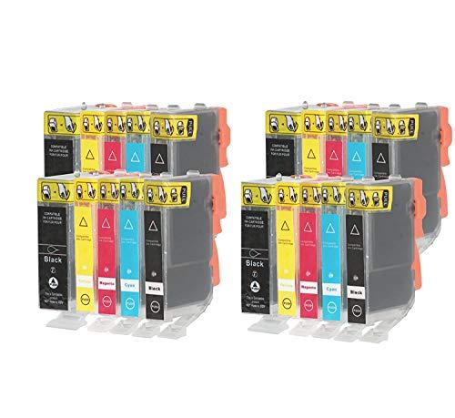 20 Cartuchos compatibles para Canon PGI-525 CLI-526 Impresora PIXMA MG5250 MG6250 MG5350 MG6150 MG5200 IX6550 MG5150 IP4850 iP4950 MG6100 MG8150