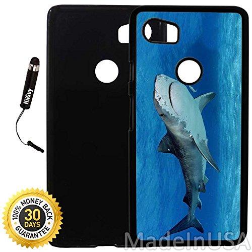 Custom Google Pixel 2XL Case (Tiger Shark) Plastic Black Cover Ultra Slim | Lightweight | Includes Stylus Pen by Innosub