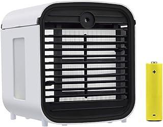 BHDesign Mini Enfriador Portátil,Aire Acondicionado Móvil,4 en 1 Ventilador/Humidificador/Purificador de Aire/Difusor de Aroma,3 Velocidades /7 Colores Luces Led,para Casa/Oficina (2019 Nuevo)