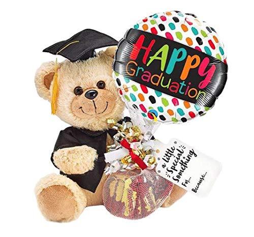 2020 Graduation Gifts Plush Bear Tassel Cap Candy Balloon Gift Set Him Her (Graduation Bear)