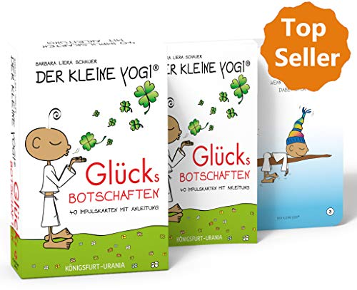 Der Kleine Yogi. Glücksbotschaften: Set mit Booklet und 40 Impulskarten (Glückskarten, Glück)