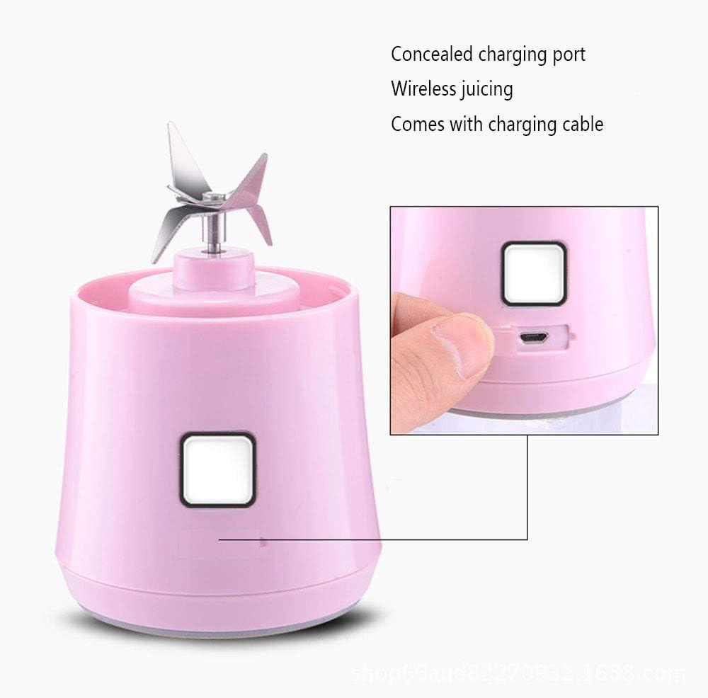kMOoz Mini Taza de Jugo, Recargable Portátil Exprimidor Eléctrico Mini Jugo Taza De Vidrio Pequeño Regalo Pequeños Electrodomésticos Adecuado para Uso En La Cocina C