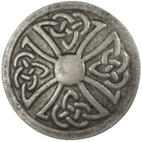 Tandy Leather Celtic Stamped Steel Concho Round 1' (2.5 cm) 71506-04
