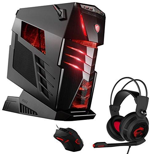 MSI Aegis Ti3 VR7RE SLI-005DE Gaming-PC inklusiv Gaming Pack (Intel Core i7-7700K, 2x NVIDIA GeForce GTX1080 8GB, 2 x 512GB SSD, 4 x 16 GB DDR4, Win 10 Home) schwarz