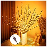Branch Lights, Branch with Lights for Indoor, 3 Pack Twig Lights with USB Plug in for Christmas and Other Theme Party Vases Decoration