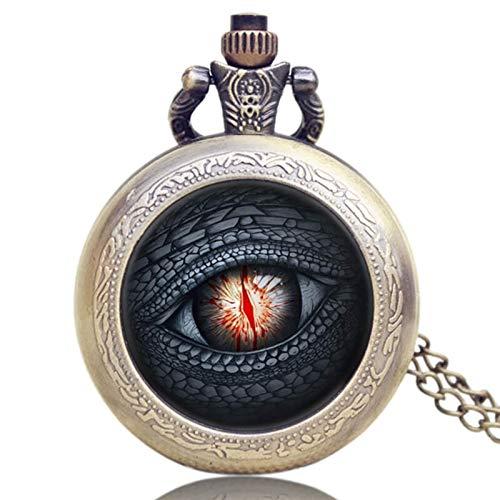LiQinKeJi8 Reloj de Bolsillo Antiguo Gris/Bronce diseño de Lobo Collar de Cuarzo Reloj de Bolsillo Relojes Colgantes de Recuerdo Unisex Fob Reloj para Hombres Mujeres (Color : Purple)