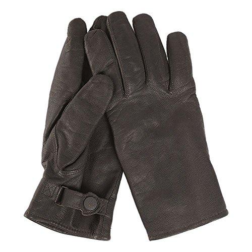 Mil-Tec BW Handschuhe Ziegenleder gefüttert schwarz Größe L