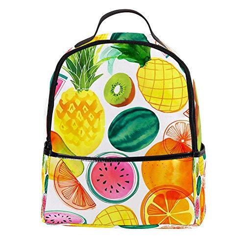 TIZORAX Fruit Watermeloen Mango Kiwi Ananas Laptop Rugzak Casual Schouder Daypack voor Student School Bag Handtas - Lichtgewicht