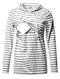 Product Image of the GINKANA Women's Nursing Hoodie Sweatshirt Long Sleeves Breastfeeding Maternity...