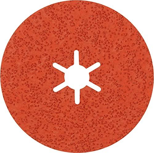Bosch Professional 2608621816 Expert R782 Prisma-Discos de fibra de cerámica diámetro, grano 36, accesorios, Ø 100 mm