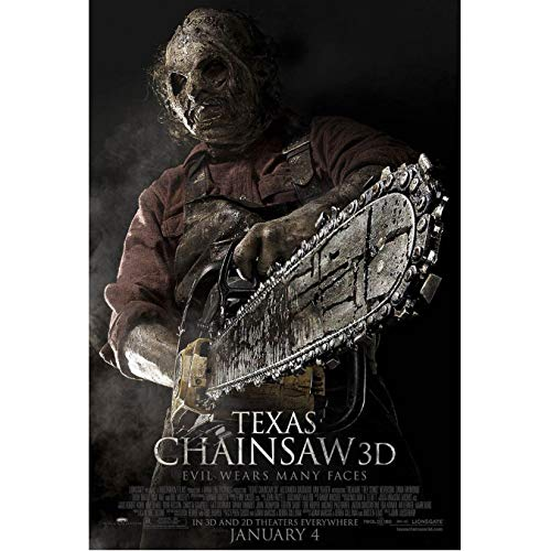 Zahuishile Carteles e Impresiones Texas Chainsaw 3D Movie Horror Gore Leatherface Art Poster Canvas Painting Home Decor 40X60Cm sin Marco