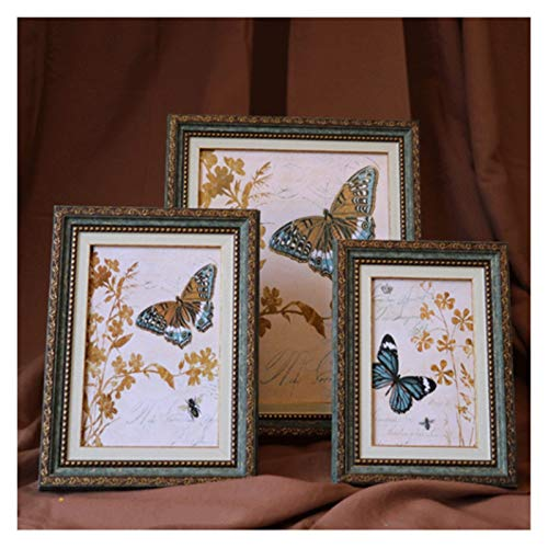Photo Frames Vintage Photo Frames Retro Photo Frame For Wedding Party Family Home Decor Picture Desktop Bedroom Accessories Gift For Friend (Color : 2, Size : 5inch(8.9x12.8cm))