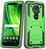 Annymall for Moto G6 Play Case, Moto G6 Forge Case Heavy Duty Built in Screen Protector Full Body Shockproof Drop Protection Rugged Bumper Cover for Motorola Moto G6 Play (Green)