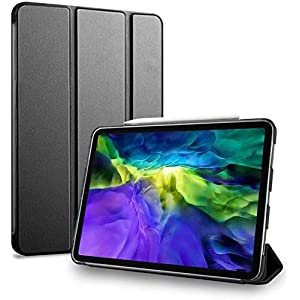 MS factory iPad Pro 11 2020 ケース カバー Pro11 第2世代 アイパッド プロ ipadpro 11インチ スマートカバー 耐衝撃 ソフト フレーム オートスリープ リッチ ブラック 黒 IPDP11/2-S-TPU-BK