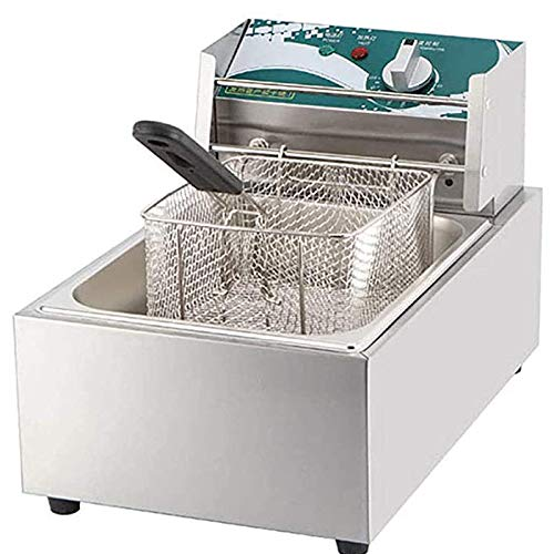2.5KW Heavy Duty Deep Fryer,Easy Clean Fat Fryer with Removable Basket, Chip Fryers Electric Pan for Home and Commercial,60-200 ° C