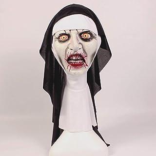 ハロウィーンホラーマスク、精神的な修道女のマスク、面白い Vizard マスク、パーティー仮装ラテックスマスク