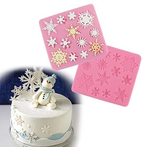 2 x Molde Silicona Fondant Flor de Encaje para hacer tarta/pastel #3