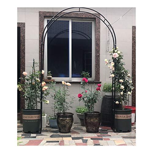 HLMBQ Rosenbogen Metall,wetterfest Gartenbogen,Rankgitter Torbogen Weiß Rankenbogen,Rankhilfe Kletterpflanzen Ivy Clematis 140x230cm,200x230cm