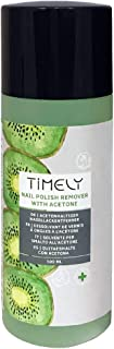 Timely - Quitaesmalte de acetona para uñas efecto exprés con fragancia de kiwi 100 ml