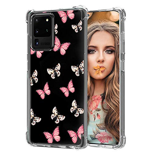 Galaxy S20 Ultra Case Clear Butterfly - Cute Butterfly Design for Girly Women Ultrathin TPU Bumper Phone Case for Samsung Galaxy S20 Ultra Transparent Protector Clear Cases for Galaxy S20 Ultra-1