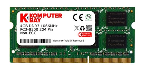 Komputerbay 4GB DDR3 SODIMM (204 pin) 1066Mhz PC3 8500 4 GB