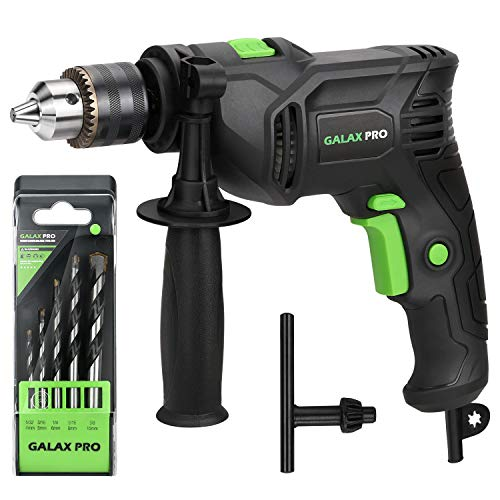 GALAX PRO Hammer Drill, 4.5A Corded Drill Impact Drill 0-3000RPM Electric Drill with 1/2'' Keyed Chuck and Depth Gauge for Drilling Wood, Steel, Masonry, Cement, Concrete_GP57325