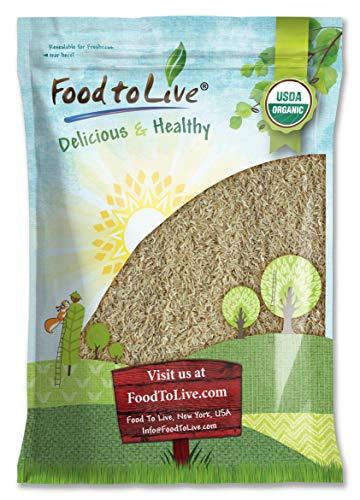 Organic Long Grain Brown Rice, 5 Pounds — Non-GMO, Raw, Non-Irradiated, Kosher, Vegan, Bulk