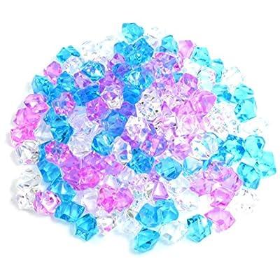 kokokwad Plastic Aquarium Decoration Stone, 150 Pieces, Blue/Pink/White by kokokwad