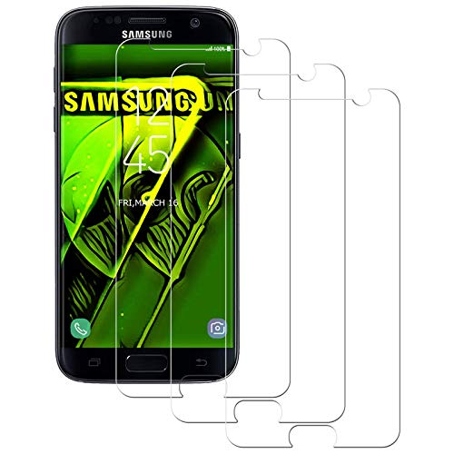 Aspiree 3 Stück Panzerglas Schutzfolie kompatibel mit Samsung Galaxy S7, Gehärtetes Glas Bildschirmschutzfolie mit 9H Festigkeit, HD Ultra Klar, Anti-Kratzen, Anti-Öl, Bildschirmschutz Folie für Galaxy S7