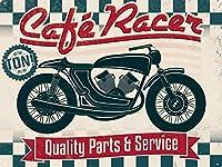 Motorcycle Parts & Service 金属板ブリキ看板警告サイン注意サイン表示パネル情報サイン金属安全サイン