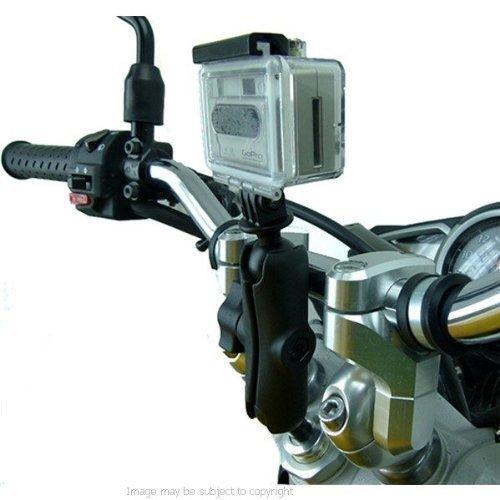 MOTO stelo della Forcella morsetto MONTAGGIO VIDEOCAMERA 15 - 17mm PER GO PRO HERO