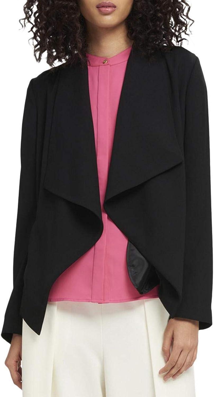 DKNY Womens Open Front Ruffled Jacket