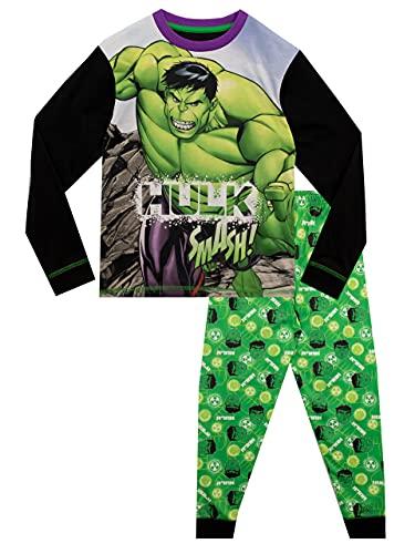 Marvel Pigiama per Ragazzi The Incredible Hulk Nero 4-5 Anni