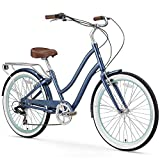 sixthreezero EVRYjourney Women's 7-Speed Step-Through Hybrid Cruiser Bicycle, 26' Wheels and...