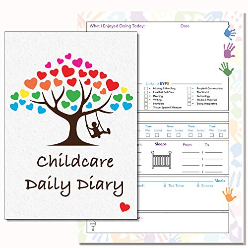 Kinderbetreuung Daily Diary, eyfs links, Daily Log Record Diary, childminders, Early Years Care, Kindergarten Daily Diary, 13 (PVC)