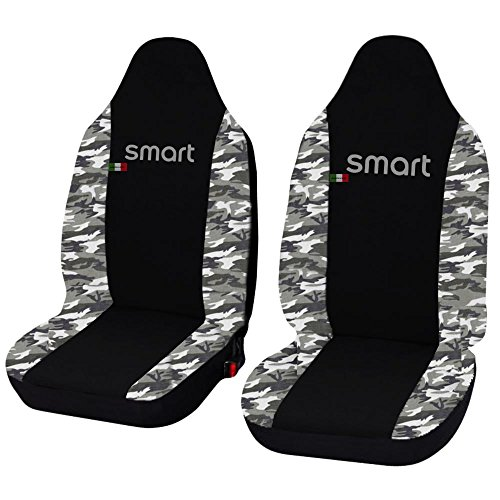 Lupex Shop smart.3S N. Mch Sitzbezüge Auto schwarz Camouflage hell