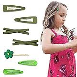 Haarspangen für Mädchen, Babys, Haarnadeln, Blumen, Bonbonfarben -  Grün -  Einheitsgröße