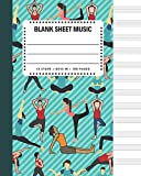 Blank Sheet Music: Yoga Cover 8x10' 100 Pages 12 Stave Standard Manuscript Paper / Staff Paper , Musicians Notebook