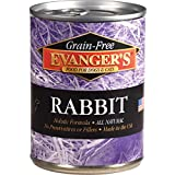 Evanger's Grain-Free Single Protein Game Meats for Dogs & Cats, Rabbit, 12.8 OZ, Pack of 12