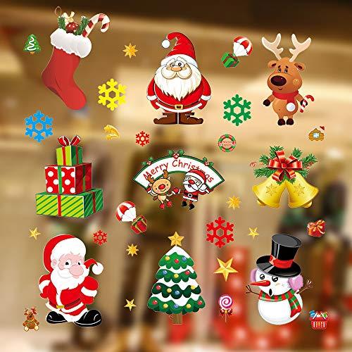 Kaishuai Decorazioni natale,Addobbi natalizi,Decorazioni per finestre,Finestra,Vetrina,Vetrofanie...
