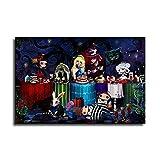 Alice im Wunderland Halloween-Leinwand-Kunst-Poster und