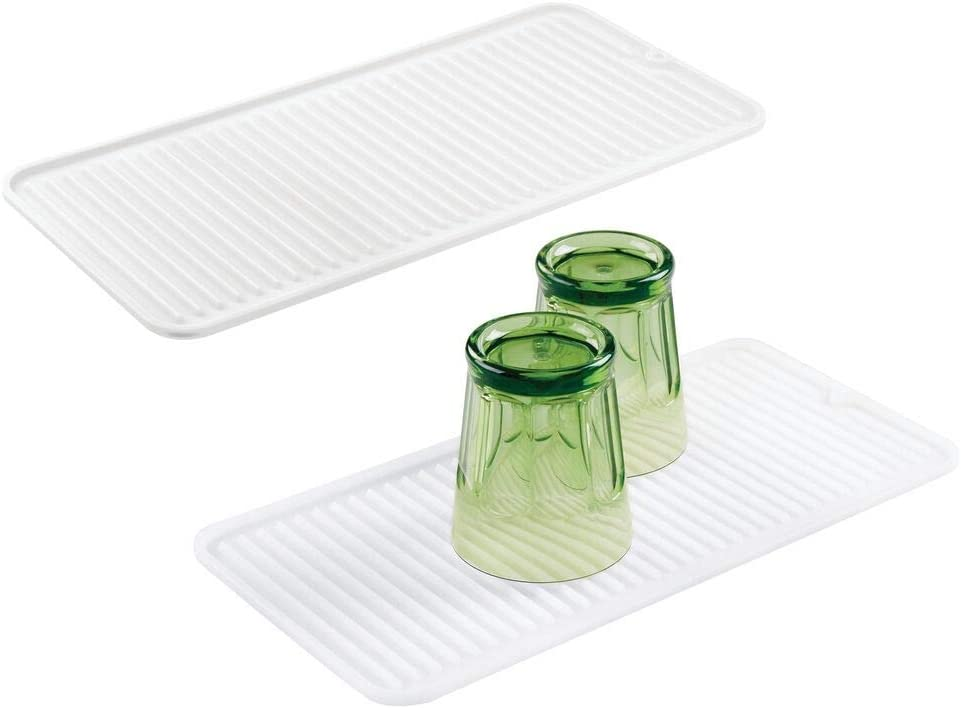 mDesign Silicone Dish Drying Mat Protector and A surprise price is realized Kitchen Count for Columbus Mall
