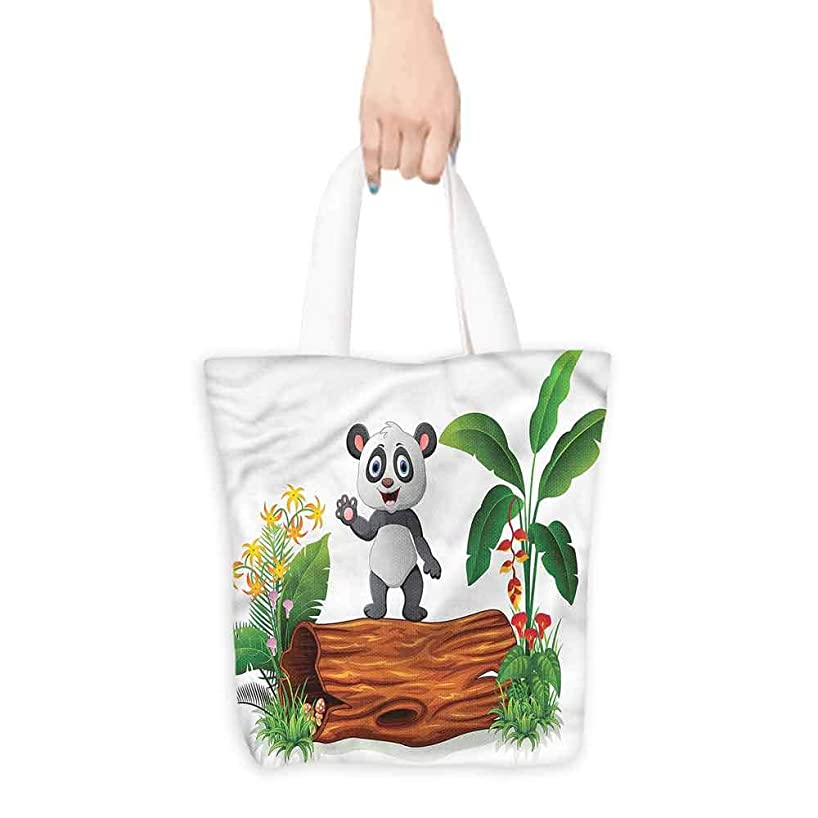 canvas laptop bag Cute Baby Panda Posing.16