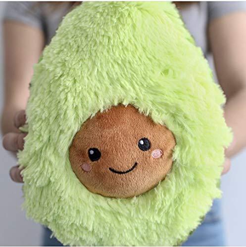 leshpretoria.world Avocado Pillow, Comfy Healty Doll Smiling Fruit (45cm)