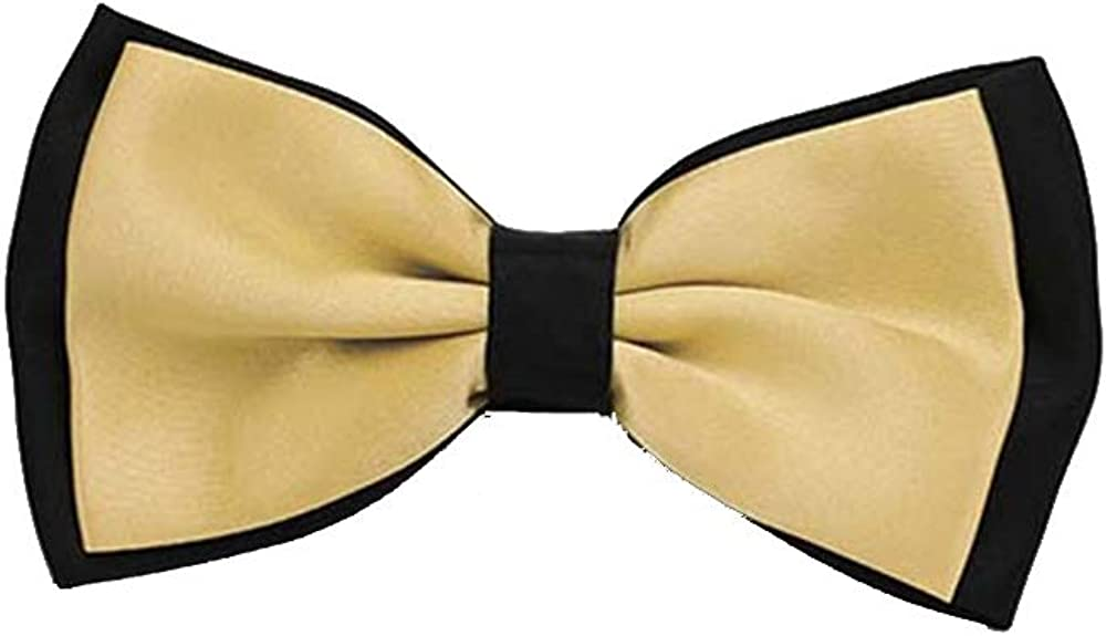 White And Black Bow Ties For Men Classic Suit Neckwear Man Bowtie Fashion Solid Color Adjustable Two Tone