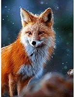 クロスステッチ刺繡キット狐11CT刻印クロスステッチプリントプリントDIY取引ポイントハンド習品かぎ針編みギフトキット(40x50cm)