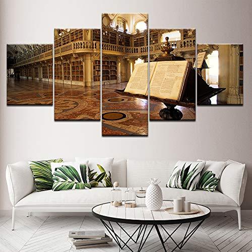 Print 5 schilderij HD poster foto's op het doek Paleis Klooster Bibliotheek papersPoster canvas print foto muurschildering woonkamer decoratie20x35 20x45 20x55cm Met lijst