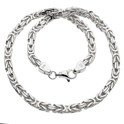 Schmuck-Pur 925/- Silber Königskette Herrenkette diamantiert 8,0 mm 65 cm 242 gr.