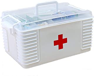 LULUD Medical Storage Box First Aid Kit Portable Mobile Medical Box Home Suitable for Families Travel Workplace