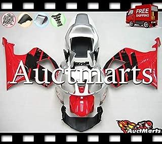 Auctmarts Fairing Kit ABS Plastics Bodywork with FREE Bolt Kit for Honda RC51 RVT1000R VTR1000R VTR 1000 R SP1 SP2 2000 2001 2002 2003 2004 2005 2006 Red Black Silver White Honda Wing (P/N:1k5)